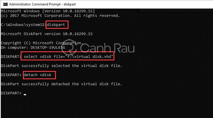 Hướng dẫn cách xóa ổ đĩa ảo trong Windows 10 hình 5