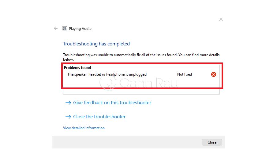 Hướng dẫn sửa lỗi the speakers not plugged in Windows 10 hình 1