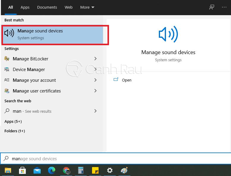 Hướng dẫn sửa lỗi the speakers not plugged in Windows 10 hình 8