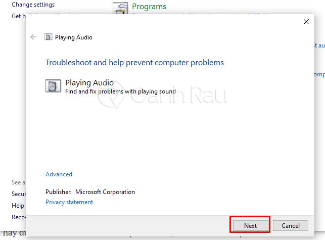 Sửa lỗi Laptop bị mất tiếng hình 13