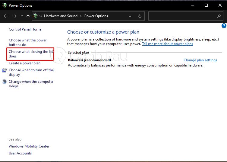 Cách gập màn hình máy tính Laptop mà không tắt máy hình 3