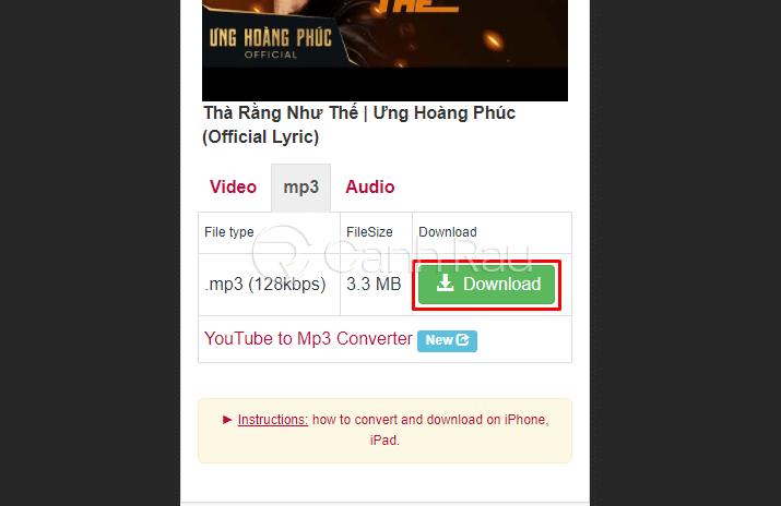 Cách tải nhạc trên Youtube về điện thoại hình 14