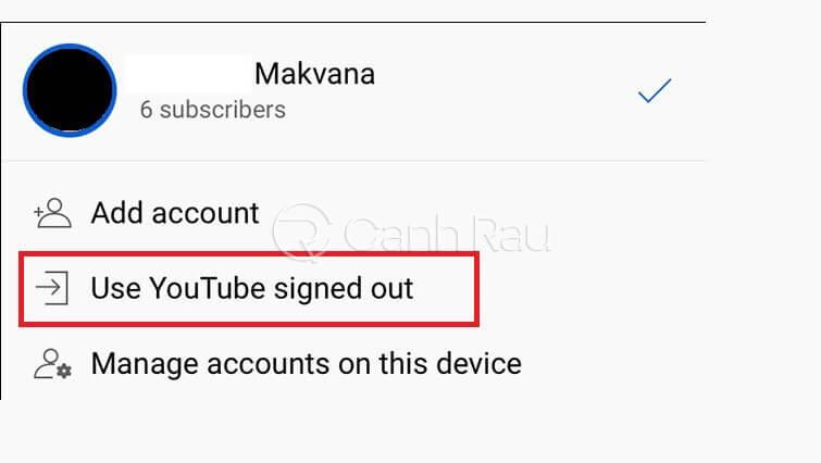 Hướng dẫn cách đăng xuất tài khoản Youtube hình 13