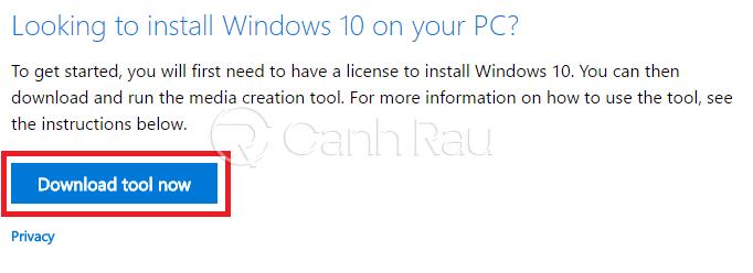Hướng dẫn cách tải Win 10 ISO chính thức từ Microsoft hình 1