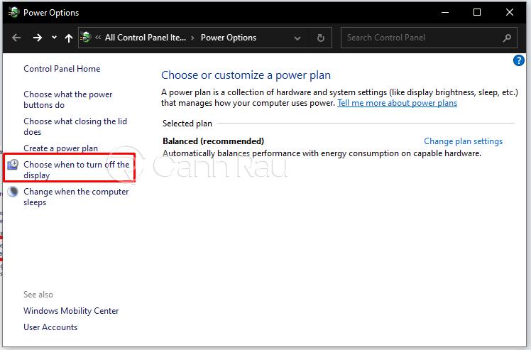 Hướng dẫn cách tắt màn hình Laptop Windows 10 mà máy vẫn chạy hình 7