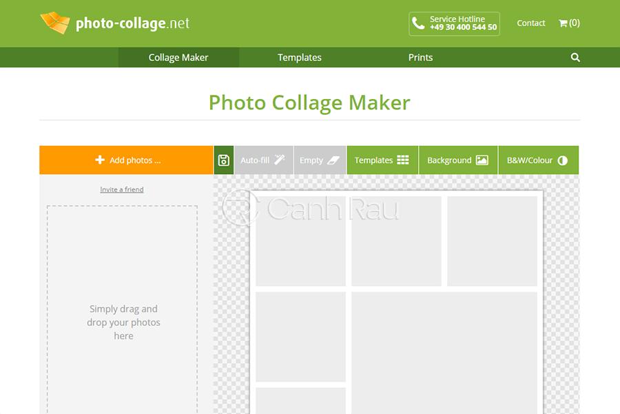 Trang web ghép ảnh trực tuyến hình 1