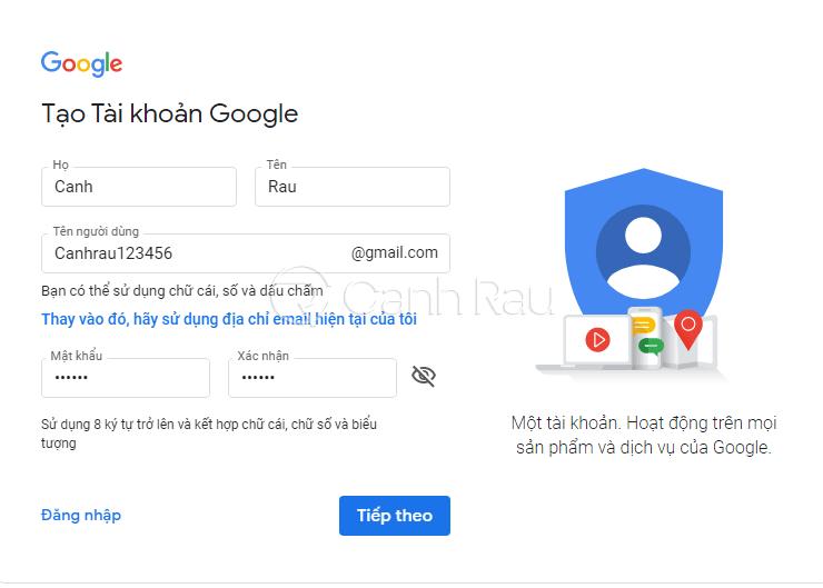 Cách tạo Gmail mà không cần số điện thoại hình 1