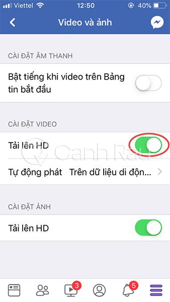 Hướng dẫn cách đăng video lên Facebook không bị mờ hình 6