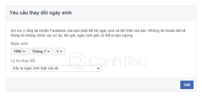 Hướng dẫn cách đổi ngày sinh trên Facebook hình 12