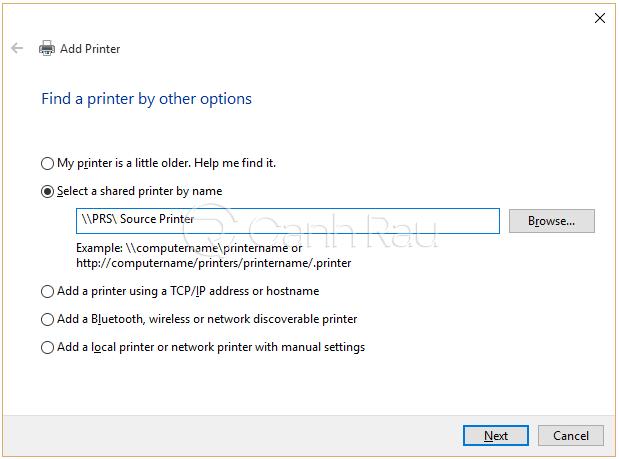 Hướng dẫn cách kết nối máy in với máy tính laptop Windows 10 hình 7