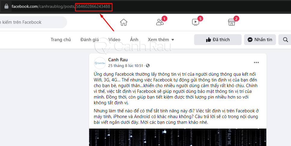 Hướng dẫn cách lấy ID bài viết Facebook hình 2