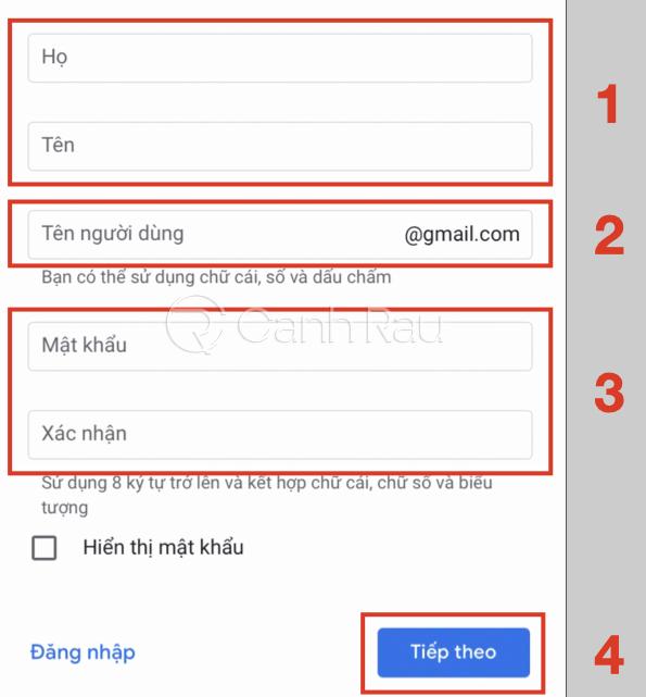 Hướng dẫn cách tạo tài khoản Google hình 6