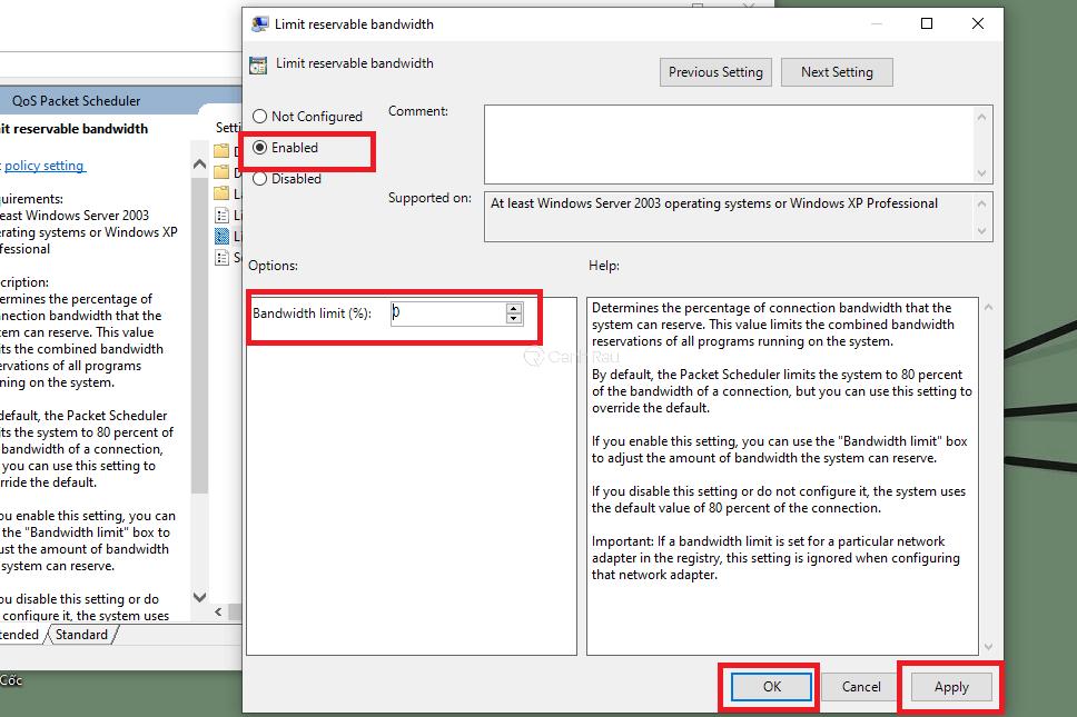 Cách tăng tốc độ mạng cho máy tính Windows 10 hình 15