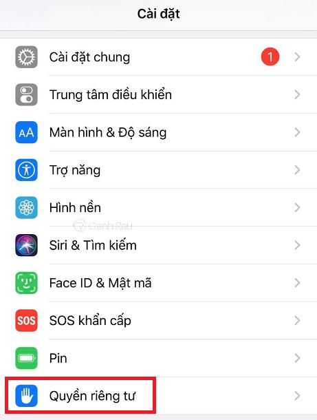 Hướng dẫn cách định vị điện thoại iPhone hình 1