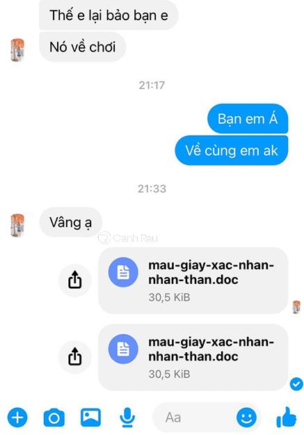 Hướng dẫn cách gửi file qua Messenger hình 13